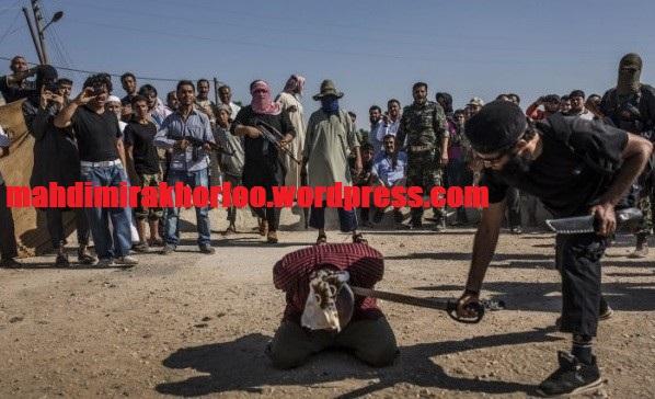 سر بریدن غیرنظامیان در برابر چشم کودکان +تصاویر